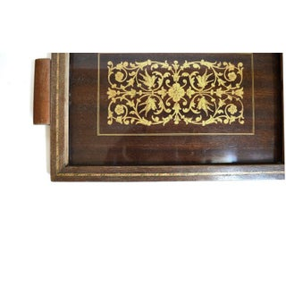 Vintage Art Deco Inlaid Wood Tray Preview