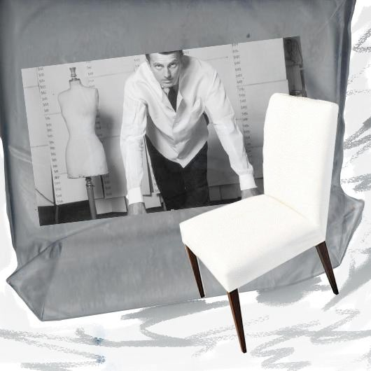 Style - Now Serving Dining Chair. Contemporary design, upholstered tight back and seat. Fabric - French Muslin. Color -...