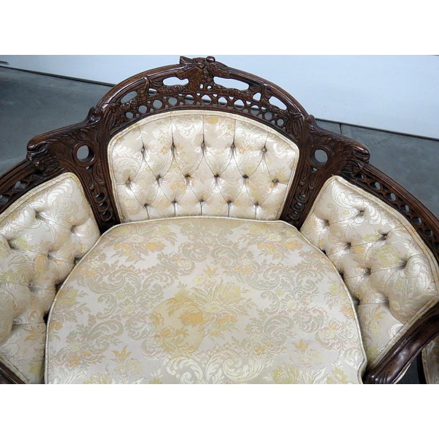 White Louis XV Style Marquis Chairs - a Pair For Sale - Image 8 of 12