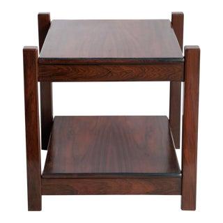 Brazilian Mid-Century Modern Jacaranda Side Table For Sale