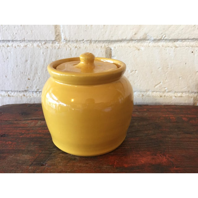 Vintage Yellow Pottery Jar - Image 3 of 10