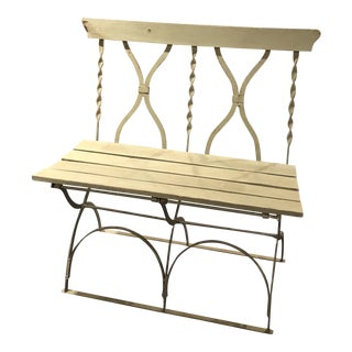 1990s Painted Folding Bench For Sale