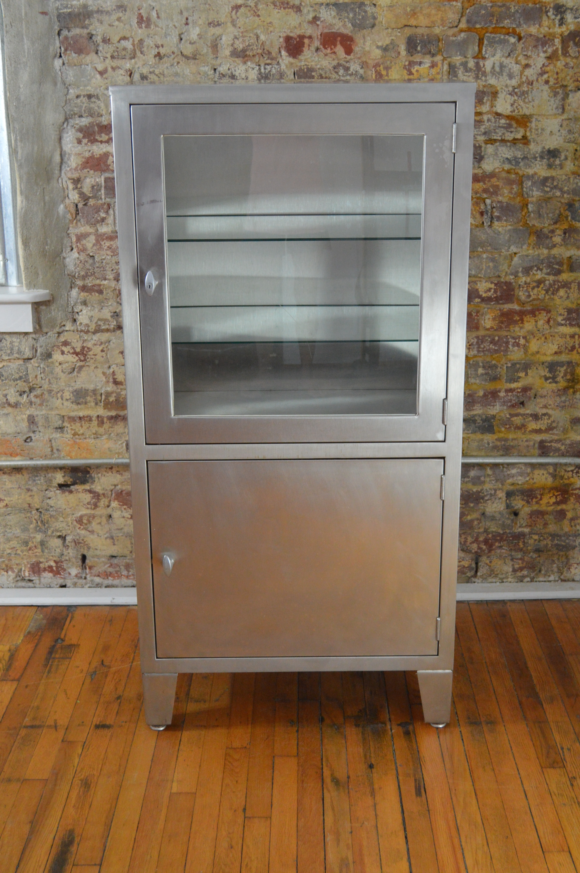 Vintage Blickman Stainless Medical Cabinet   Image 2 Of 7