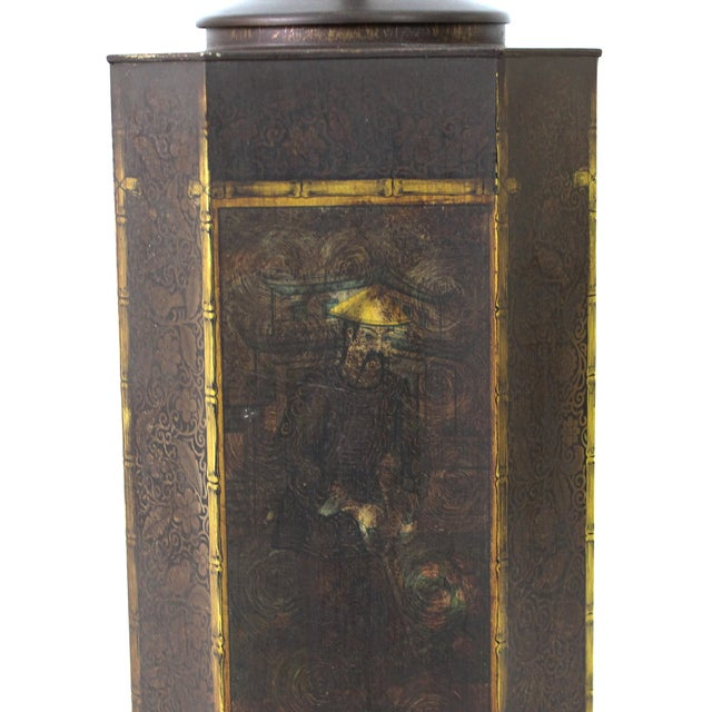 Chapman Asian Toleware Tea Canister Lamp - Image 4 of 7