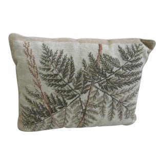Fern Leaf Needlepoint Pillow For Sale