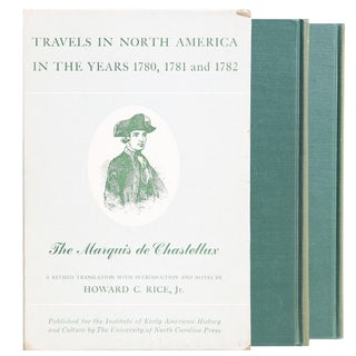 "1963 ""Travels in North America 1780, 1781, and 1782 by Marquis De Chastellux v. I, Ii"" Collectible Book For Sale"