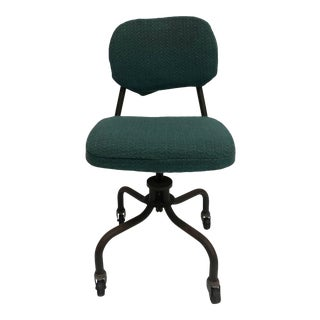 Vintage Industrial Steel Swivel Office Chair For Sale