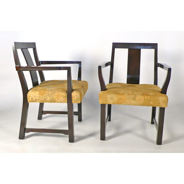 Dunbar Furniture 8 Edward Wormley Dining Chairs For Sale - Image 4 of 6