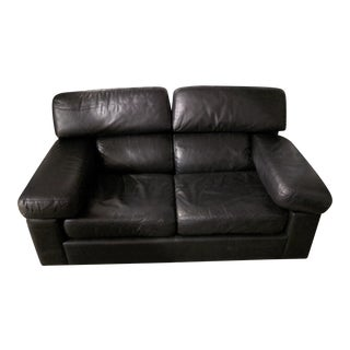 Leather Center 2 Cushion Loveseat For Sale