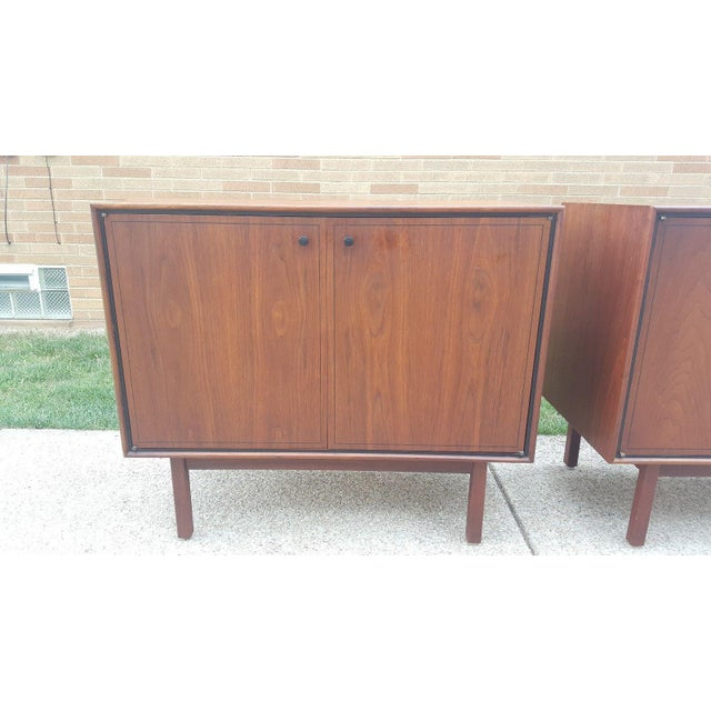 Milo Baughman for Arch Gordon Walnut Cabinets - A Pair - Image 5 of 11