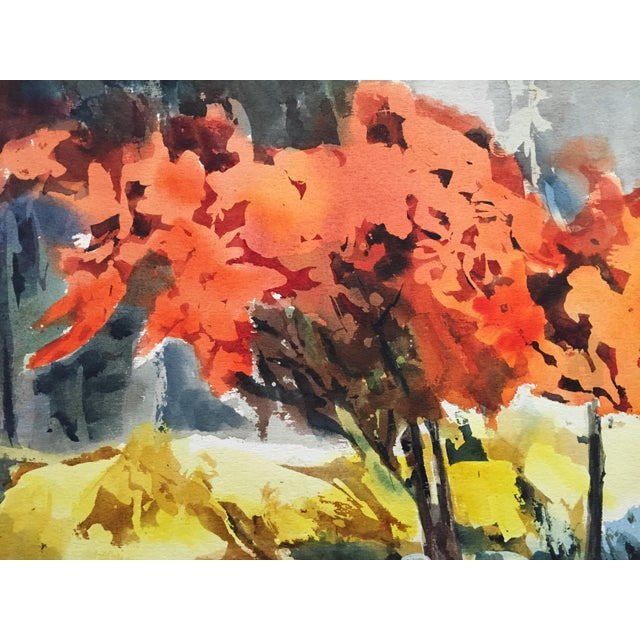 Thelma Moody 1960's Double-Sided Gouache Landscape - Image 2 of 7