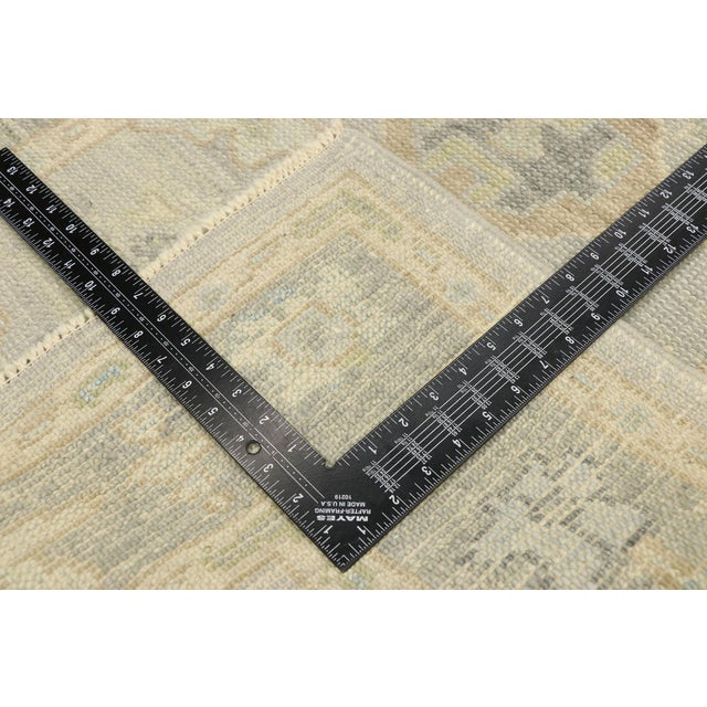 Early 21st Century Contemporary Turkish Oushak Runner With Transitional Style - 03'00 X 09'11 For Sale - Image 5 of 9