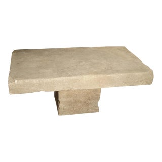 Limestone Coffee Table From Provence, France For Sale