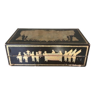 19th Century Chinoiserie Lacquered Writing Box