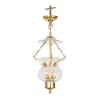 Late 20th Century Ball and Ball Colonial Bell Jar Lantern For Sale