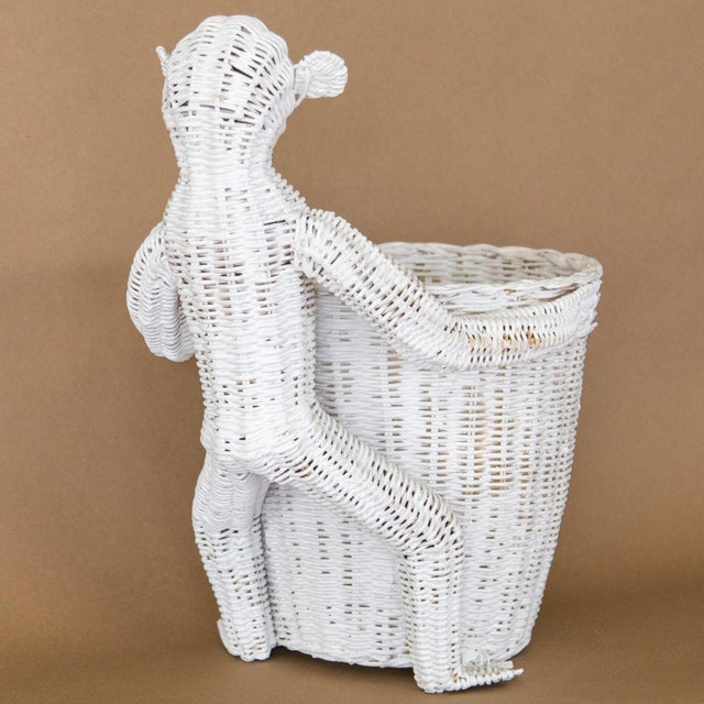 White Mario Lopez Torres Wicker Monkey Basket For Sale - Image 8 of 11