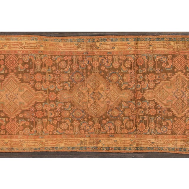 Vintage hand-knotted Persian Hamadan with a multi-medallion motif. This piece has a beautiful design and great colors. Low...