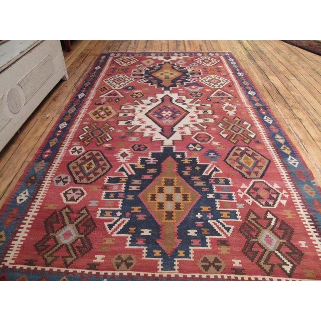 Traditional Kuba Kilim For Sale - Image 3 of 7