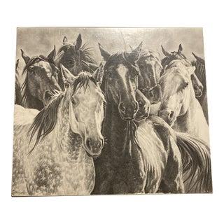 Equestrian Wooden Keepsake Box For Sale