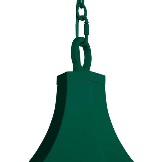 Traditional Bennington Lantern, Chrome Green For Sale - Image 3 of 4
