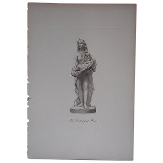 """""""The Finding of Moses"""" Antique Engraving For Sale"""