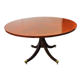 Hekman Georgian Banded Mahogany Dining Table For Sale