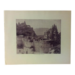 "Antique Glimpses of India Print, ""The Balabhi Temple - Palitana"", Circa 1890 For Sale"