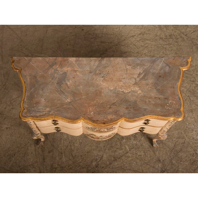 Antique Italian Baroque Painted Two Drawer Chest, circa 1750 For Sale - Image 11 of 11