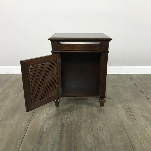 Cane-Lined Traditional Nightstand - Image 7 of 11
