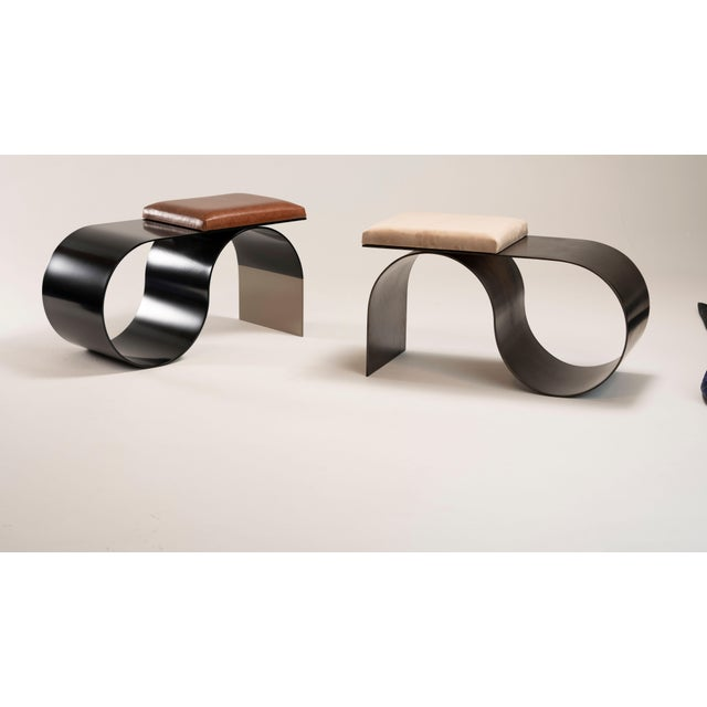 Minimalism Bronze Sia Bench by Jason Mizrahi For Sale - Image 3 of 4