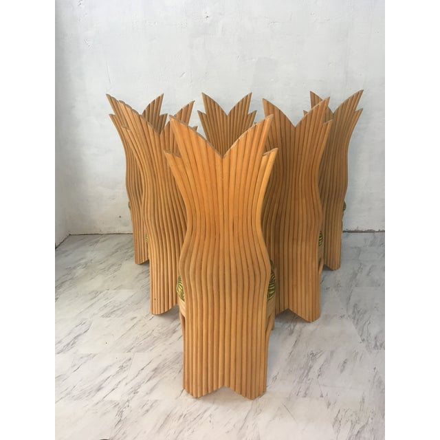 Rattan Dining Chairs, Set of Six For Sale - Image 10 of 10