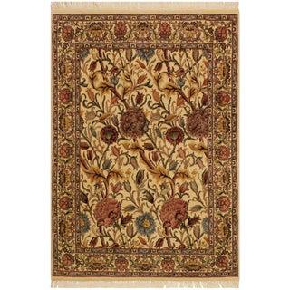 Pak-Persian Renae Ivory/Pink Wool Rug - 4'0 X 5'10 For Sale
