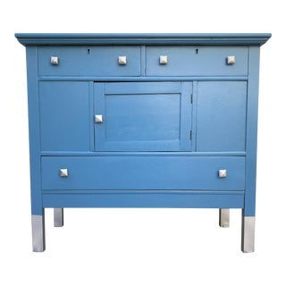 19th Century French Blue Sideboard / Credenza / Console For Sale