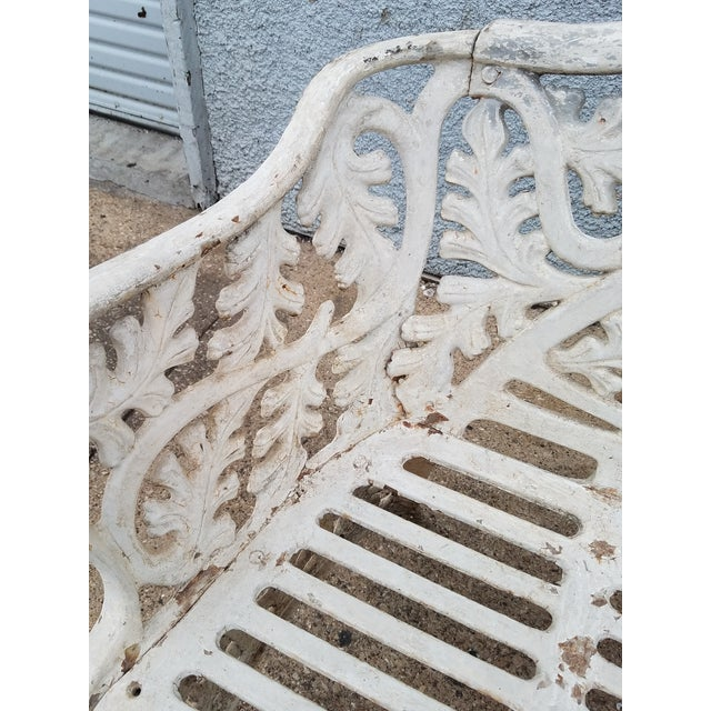 Cast Iron Antique Garden Bench For Sale - Image 4 of 9