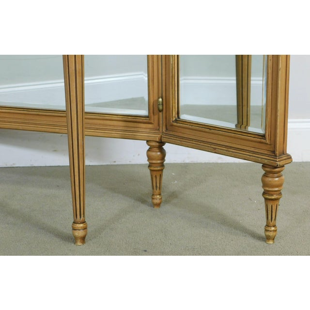 1920's Vintage French Louis XVI Style Tri-Fold Mirror with Dressing Table, Vanity For Sale - Image 12 of 13