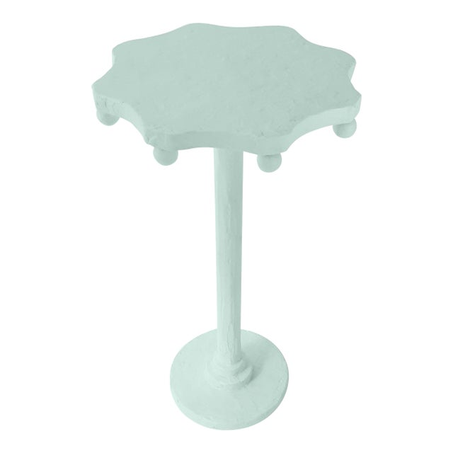 Contemporary Teatro Accent Table in Palladian Blue For Sale - Image 3 of 3