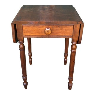 19th Century Hand Crafted Walnut Pembroke Style Drop Leaf Table For Sale