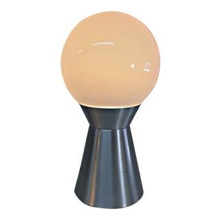 1960s Vintage Aluminum & Glass Accent Lamp
