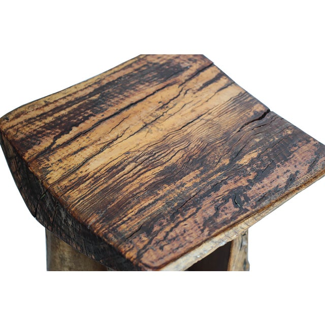 Rustic Tree Stump Stool - Image 4 of 6