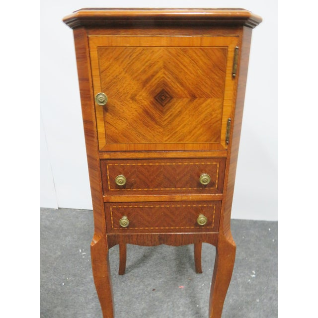 Brass Louis XV Rosewood Nightstand For Sale - Image 7 of 8