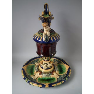 19th Century Minton Majolica Ewer & Stand Preview