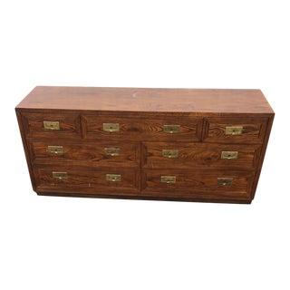 Vintage Campaign Henredon Dresser For Sale