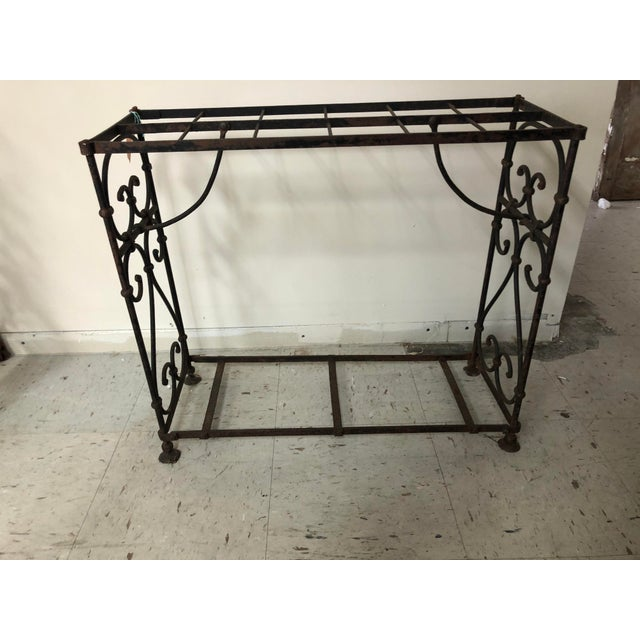 Traditional 1900s Victorian Iron Stick Umbrella Stand For Sale - Image 3 of 7