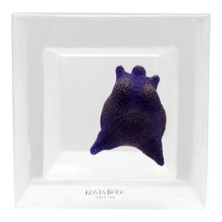 Cobalt Blue Nude Glass Sculpture by Kjell Engman for Kosta Boda For Sale