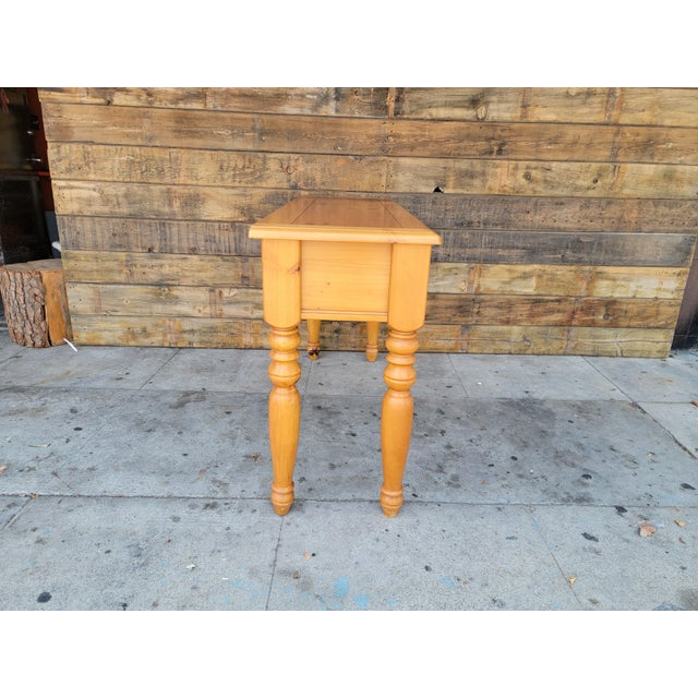 1980s Rustic Console Table with Drawers For Sale - Image 4 of 13