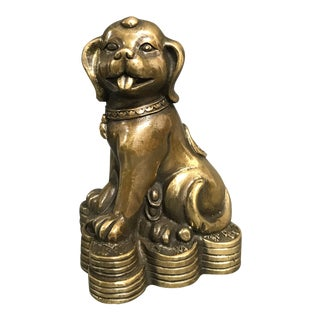 Bronze Chinese Lucky Charm Buddha Sculpture For Sale
