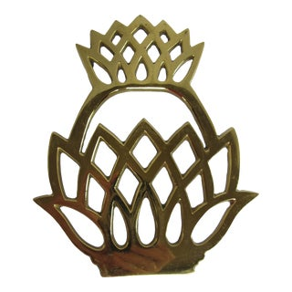 Virginia Metal Crafters Pineapple Trivet For Sale