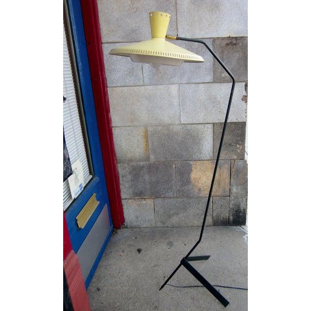 Large 5 Foot High 1950s Italian Modernist Mid-Century Modern Atomic Era Floor Lamp For Sale - Image 13 of 13