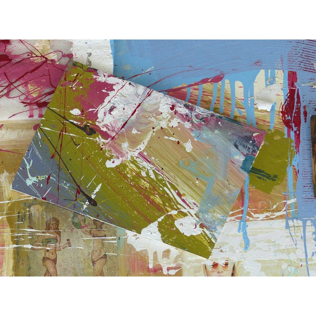 """Early 21st Century William P. Montgomery Abstract Mixed Media Painting """"Swamp Talk 1/2"""", 2015 For Sale - Image 5 of 13"""