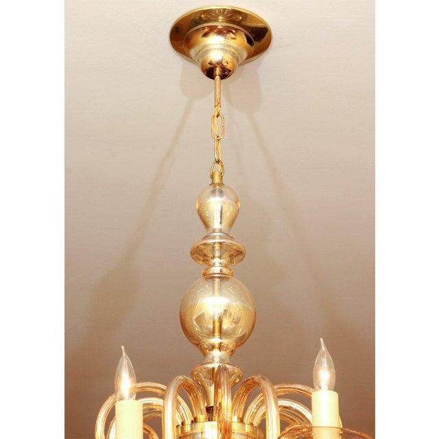Glass Czechoslovakian Glass Chandelier For Sale - Image 7 of 7